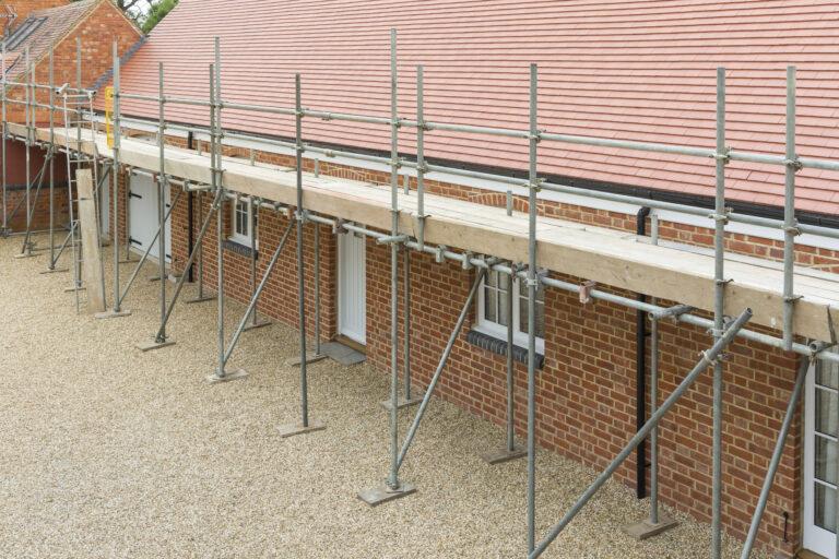 scaffolding for a barn conversion