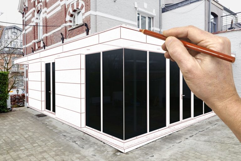 sketching house extension