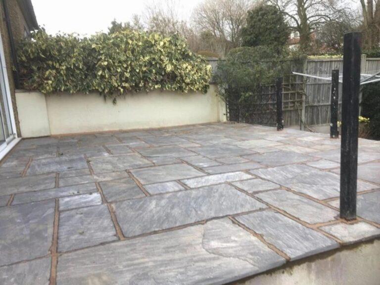 new paving stones patio